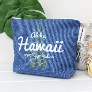 ポーチ 小物入れ 小さめ ハワイ 土産 おしゃれ 可愛い 雑貨 Angels by the Sea Hawaii エンジェルズバイザシー アロハパイナップル ポーチ ギフト clara-hawaii