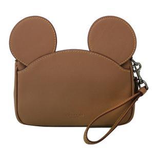 COACH × Disney コーチ × ディズニー ミッキーマウス レザー イアーズ リストレット F59529 QB/SD ポーチ|clara-hawaii