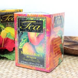 紅茶 ギフト ハワイ 土産 ハワイアン アイランド ティー マンゴー マウイ トロピカルブラックティー 1.27oz 36g 20ティパック|clara-hawaii
