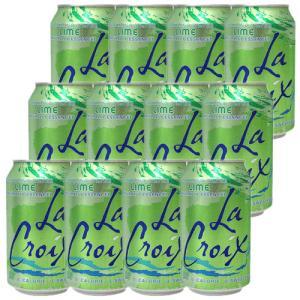 炭酸水 スパークリング LaCroix ラクロワ スパークリングウォーター ライム 12缶入り 355ml ノンアルコール|clara-hawaii