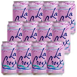 炭酸水 スパークリング LaCroix ラクロワ スパークリングウォーター ベリー 12缶入り 355ml ノンアルコール|clara-hawaii