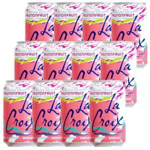 炭酸水 スパークリング LaCroix ラクロワ スパークリングウォーター パッションフルーツ 12缶入り 355ml ノンアルコール|clara-hawaii