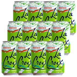 炭酸水 スパークリング LaCroix ラクロワ スパークリングウォーター マンゴー 12缶入り 355ml ノンアルコール|clara-hawaii