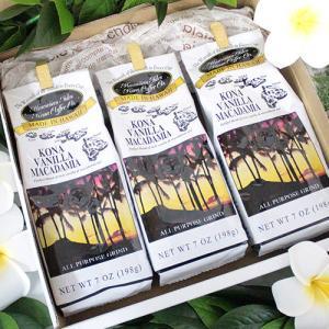 コーヒー 珈琲 ハワイアンアイルズコーヒー コナバニラマカダミア 3個セット 7oz 198g コナ10% ハワイ 土産 お中元 お歳暮 ギフト お祝い clara-hawaii