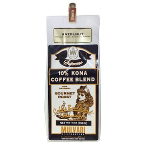 コーヒー 珈琲 ハワイ 土産 コナコーヒー マルバディ MULVADI 10%コナコーヒー ヘーゼルナッツ 7oz 198g ギフト お歳暮 お中元|clara-hawaii