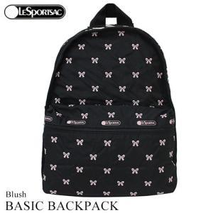 バッグ リュック レスポートサック LeSportsac 黒 ブラック ブラッシュ Blush ベーシックバックパック 7812 リボン 刺繍 旅行|clara-hawaii