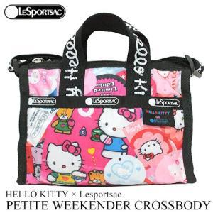 ハローキティ ミニ バッグ ピンク レスポ HELLO KITTY × Lesportsac Hello Kitty G630 プチウィークエンダークロスボディ 3273 日本未入荷|clara-hawaii