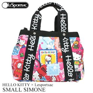 ハローキティ バッグ 2WAY ピンク レスポートサック HELLO KITTY × Lesportsac Hello Kitty G631 スモールシモーネ 4316|clara-hawaii
