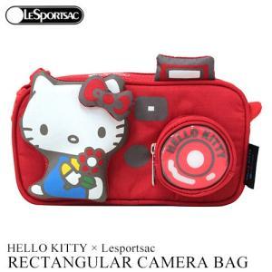 ハローキティ レスポートサック ショルダー バッグ HELLO KITTY × Lesportsac ハローキティカメラ G632 レクタンギュラーカメラバッグ 3423|clara-hawaii