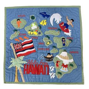 ハワイ クッションカバー インテリア おしゃれ ハワイアンキルト ピンク レッド グリーン ブラウン ブルー 雑貨|clara-hawaii