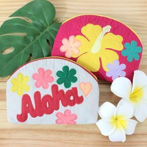 ハワイ 土産 ハワイアンキルト ポーチ ハイビスカス 花柄 雑貨 ギフト プレゼント 可愛い おしゃれ|clara-hawaii
