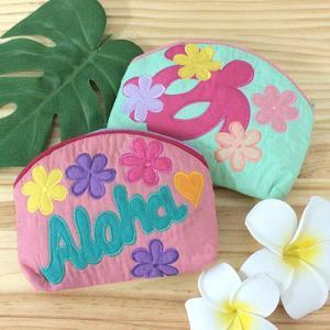 ハワイ 土産 ハワイアンキルト ポーチ ホヌ 雑貨 ギフト プレゼント 可愛い おしゃれ|clara-hawaii