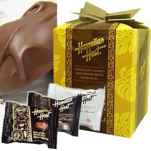 ハワイ お土産 チョコレート お菓子 ハワイアンホースト Hawaiian Host マカデミアナッツチョコレートミックス プレゼント|clara-hawaii
