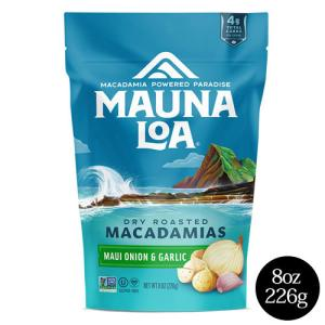 ハワイ お土産 大容量 マウナロア マカダミアナッツ スタンドアップバッグ マウイオニオン&ガーリック 10oz 283g お菓子|clara-hawaii