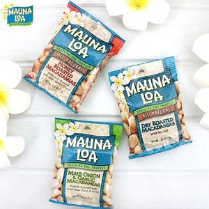 ハワイ お土産 マウナロア マカダミアナッツ 32g ドライロースト塩味 マウイオニオン&ガーリック ハニーロースト|clara-hawaii