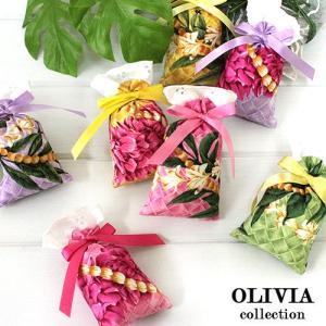 ハワイ フレグランス 香り ハワイアン サシェ オリビアコレクション 3個セット レイスタンド ハワイの香り|clara-hawaii