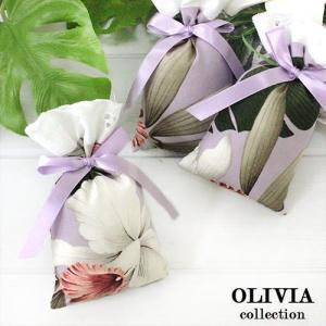ハワイ フレグランス 香り ハワイアン サシェ オリビアコレクション 3個セット オーキッド ラベンダー ハワイの香り|clara-hawaii