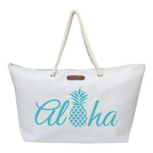 バッグ レディース トート 普段使い 旅行 Island Heritage ロープハンドルビーチトートバッグ アロハパイナップル 可愛い おしゃれ ハワイアン雑貨|clara-hawaii