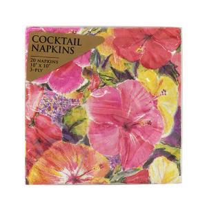 ハワイ 紙ナプキン 可愛い おしゃれ キッチンアイテム Island Heritage ハイビスカスインプレッション ペーパーナプキン 20枚入り clara-hawaii