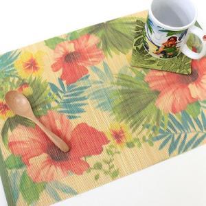 ハワイ ランチョンマット おしゃれ プレイスマット 花柄 Island Heritage バンブー トロピカルブリーズ ハワイアン雑貨 キッチン インテリア|clara-hawaii