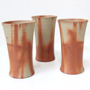 コップ ビアマグ 備前焼 ひだすき 陶器 ギフト 贈答|clara-hawaii