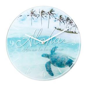時計 壁掛け インテリア Kahiko オーシャンクロック FLOWER おしゃれ ハワイアン雑貨 模様替え|clara-hawaii