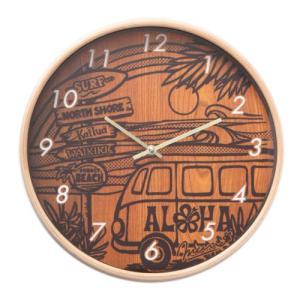 時計 壁掛け インテリア Kahiko オーシャンクロック HONU おしゃれ ハワイアン雑貨 模様替え|clara-hawaii