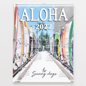 カレンダー 2022 ハワイアン雑貨 Kahiko フォトカレンダー L SURF ハワイアンカレンダー おしゃれ かわいい clara-hawaii