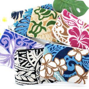 ハワイアン雑貨 ポーチ 小物入れ ハワイ 雑貨 Kahiko ハワイアン サガラポーチ 可愛い おしゃれ 花柄|clara-hawaii