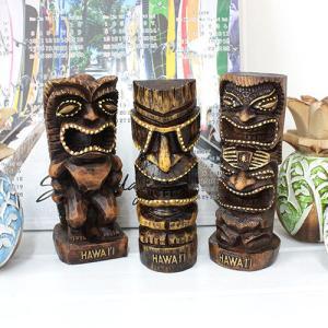 ハワイ インテリア 雑貨 Kahiko ハワイアンティキ M お守り 守り神 ギフト プレゼント 土産|clara-hawaii
