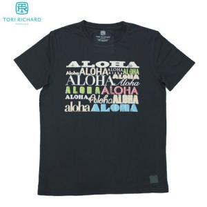 ハワイ メンズ Tシャツ ブラック 黒 TORI RICHARD トリリチャード Much Aloha Tee ギフト プレゼント|clara-hawaii