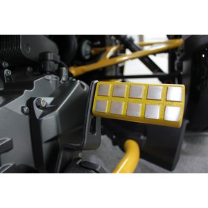 BRP Can-Am SPYDER F3 クラリス製 ダイキャスト ブレーキペダル ロングイエローアルマイト(受注生産)|claris-shop