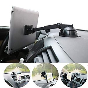 タブレットホルダー マグネット 、 PLDHPRO車載スマホホルダー 、伸縮アーム 粘着ゲル吸盤式 clartellc