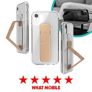 CLCKR iPhone XR ケース スタンド & グリップ 一体型 縦置き/横置き スリムデザイン(iPhoneXR クリア iPhone XR clartellc