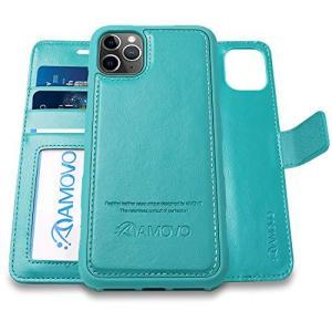 AMOVO iPhone 11 Pro Max ケース 手帳型 分離式 マグネット 取り外し自由 ワイヤレス充電に対応 カード収納 04 clartellc