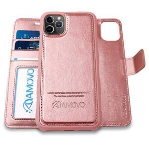 AMOVO iPhone 11 Pro Max ケース 手帳型 分離式 マグネット 取り外し自由 ワイヤレス充電に対応 カード収納 02 clartellc