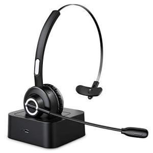 Bluetooth 5.0 ヘッドセット ワイヤレス ヘッドセット 片耳 高音質 ハンズフリー通話 音楽 ノイズキャンセリング clartellc