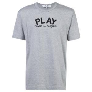 プレイコムデギャルソン メンズグレーPLAYロゴ&バックハートTシャツ PLAY COMME DES GARCONS AZ-T072-051-1-1