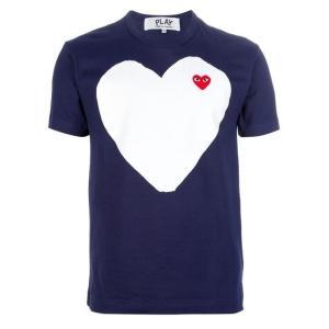 プレイコムデギャルソン メンズネイビーハートTシャツ PLAY COMME DES GARCONS AZ-T184-051-1
