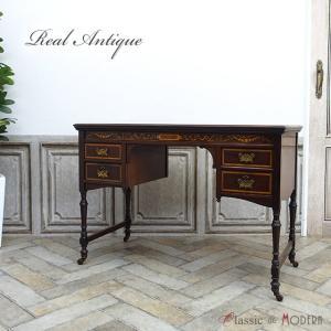 ●品名・品番 antique53805 デスク 1910年頃 マホガニー材 イギリス  ●サイズ W...