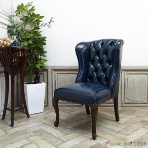ハイバック チェア チェスターフィールド 1人掛け カフェ オフィス ダイニング 食卓 椅子 ワンルーム 英国 アンティーク ヴィンテージ レトロ 9013-5P58B classic-de-modern
