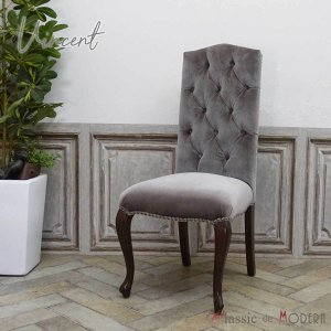 ハイバック チェア チェスターフィールド 1人掛け カフェ ダイニング 食卓 椅子 ワンルーム 英国 アンティーク ヴィンテージ レトロ 9014-5F37B classic-de-modern