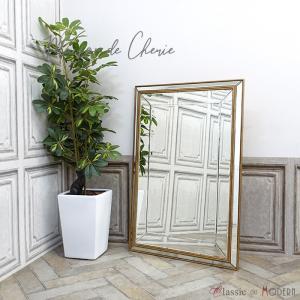 ミラーメゾン・ド・シェリー 壁掛け アンティーク ウォールミラー 鏡 HNM-001|classic-de-modern