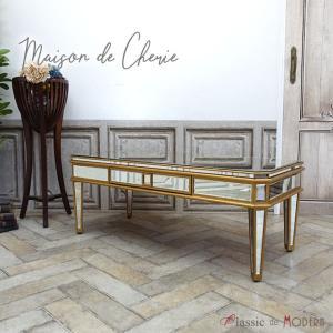 テーブル メゾン・ド・シェリー コンソールテーブル ミラー家具 鏡 hnm-004|classic-de-modern