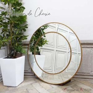 ミラーメゾン・ド・シェリー 壁掛け アンティーク ウォールミラー 鏡 hnm-006|classic-de-modern