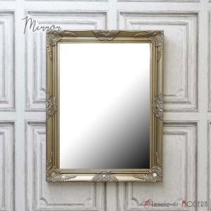 ウォールミラー アンティーク 壁掛け 鏡 美容室 サロン 仕様 店舗什器 クラシック ヴィンテージ シルバー 銀色 q-mr-501|classic-de-modern