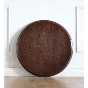 カフェテーブル アンティーク調 ディスプレイ 店舗什器 サイドテーブル用 天板 丸型 直径60 ブラウン tb-60r-5 classic-de-modern