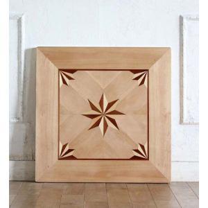 カフェテーブル アンティーク調 ディスプレイ 店舗什器 サイドテーブル用 天板 角型 60cm パーケットリー ナチュラル tb-60s-il classic-de-modern
