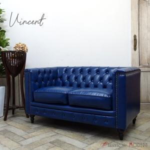 チェスターフィールド ソファ 2人掛け ソファー 二人用 長椅子 ヴィンセント ヴィンテージ レトロ シャビー 英国 イギリス ラウンジ カフェ vm2p72k classic-de-modern