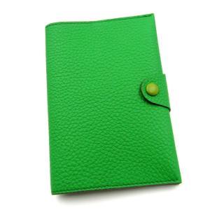 美品 kanda misako カンダミサコ パスポートカバー シュランケンカーフ ハンドメイド ジャングルグリーン 緑  レザー 革  中古 18000114 classic